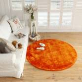 Оранжевый круглый ковер JumKids Sweet Orange