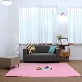 Розовый прямоугольный ковер JumKids Moco Premium Pink